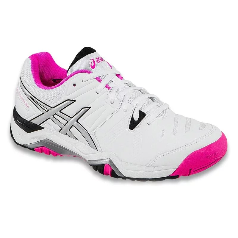 asics s challenger 10 tennis shoes white pink glo