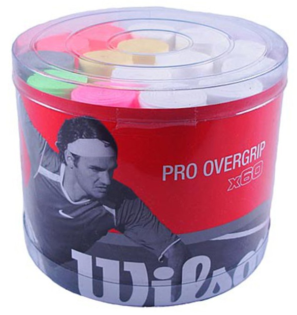 Wilson Pro Overgrip 60x Bucket Assorted Colors From Do