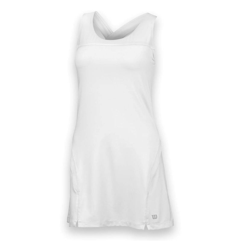 Wilson Women's Team Tennis Dress (White/White)
