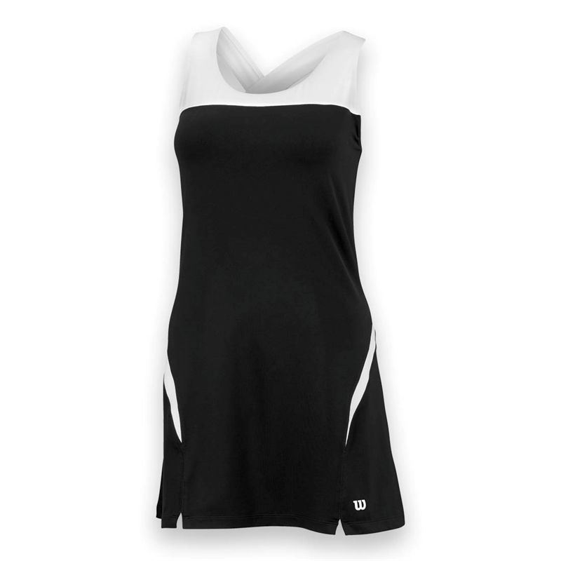 Wilson Women's Team Tennis Dress (Black/White)
