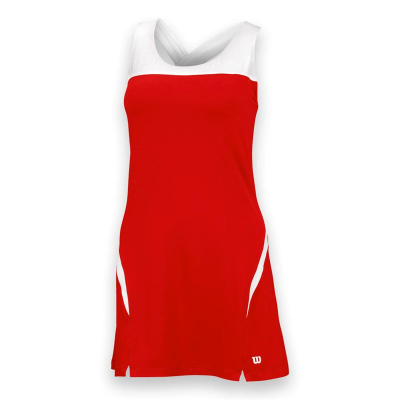 Wilson Women's Team Tennis Dress (Red/White)