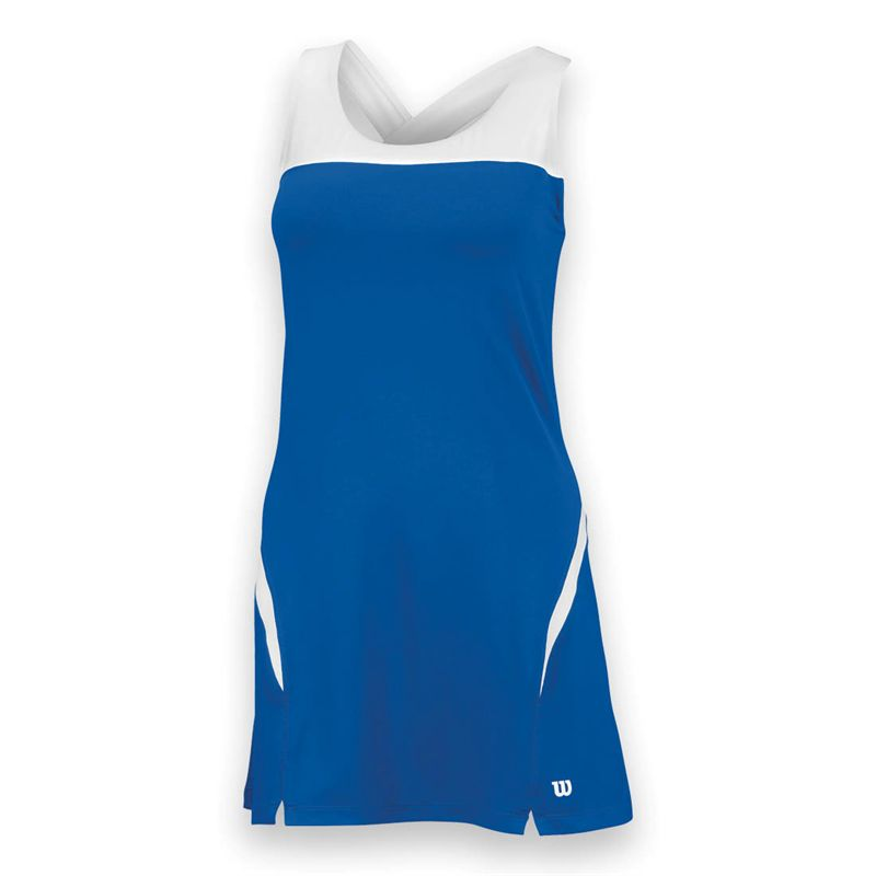 Wilson Women's Team Tennis Dress (Blue/White)