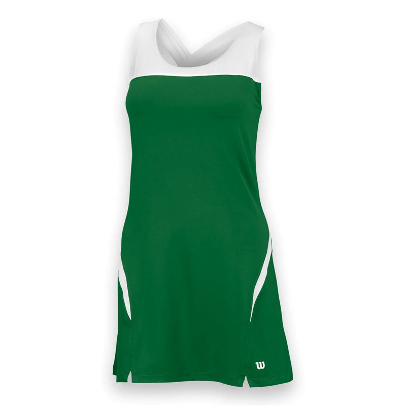 Wilson Women's Team Tennis Dress (Green/White)