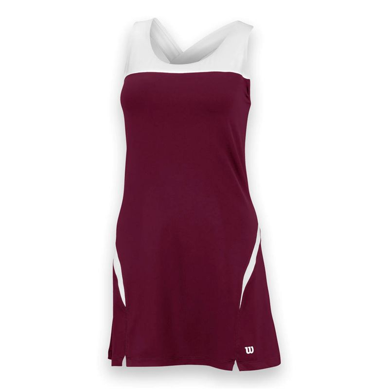 Wilson Women's Team Tennis Dress (Maroon/White)