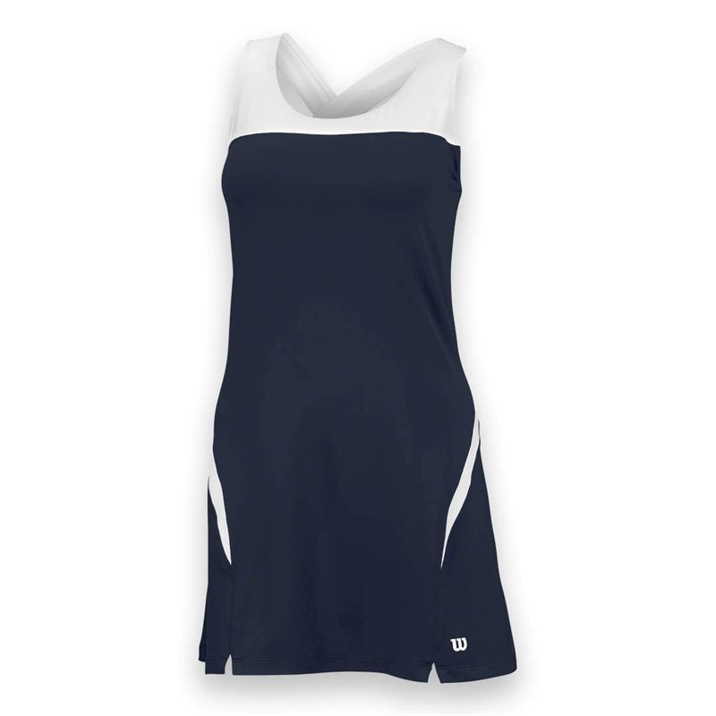 Wilson Women's Team Tennis Dress (Navy/White)
