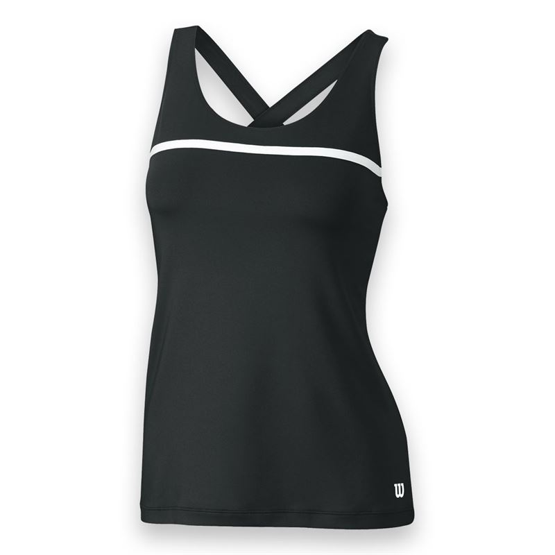 Wilson Women's Team Tennis Tank (Black/White)