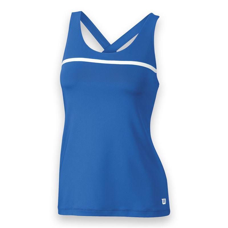 Wilson Women's Team Tennis Tank (Blue/White)
