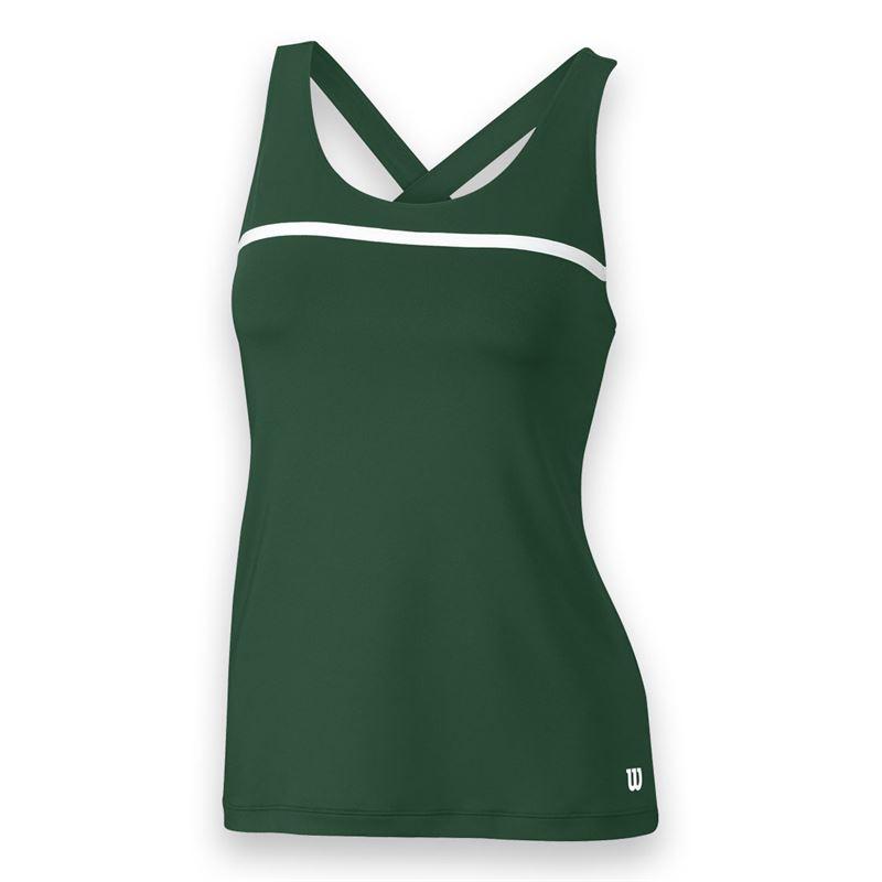 Wilson Women's Team Tennis Tank (Green/White)