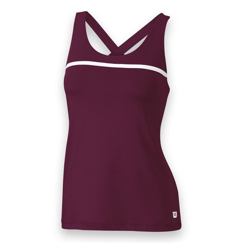 Wilson Women's Team Tennis Tank (Maroon/White)