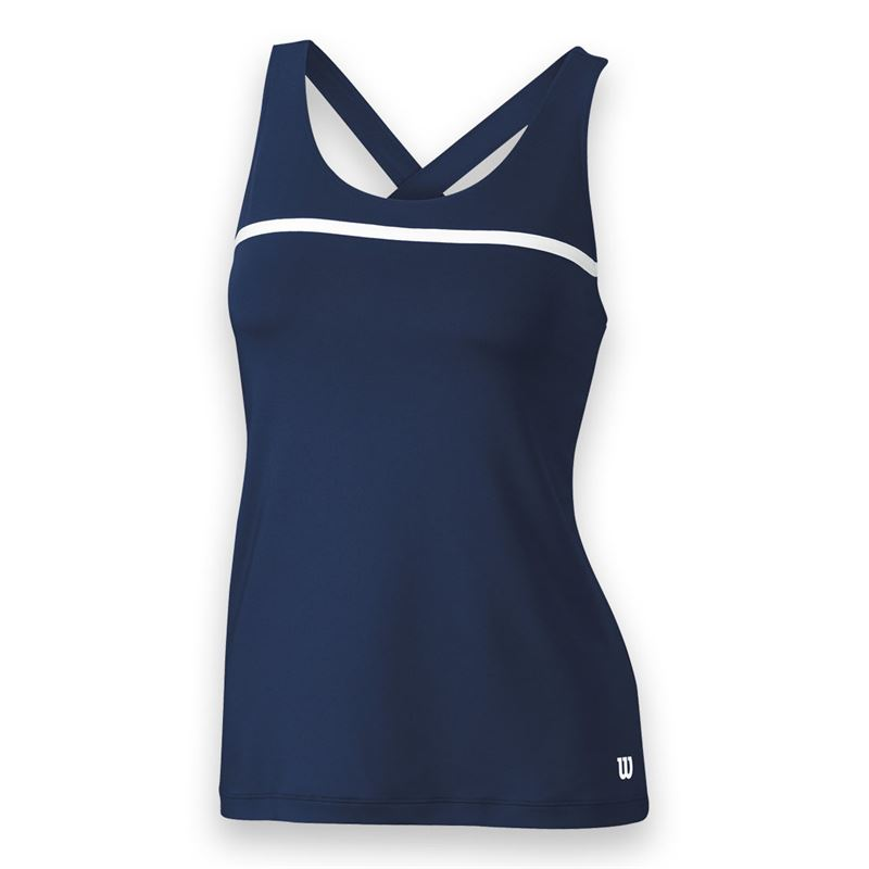 Wilson Women's Team Tennis Tank (Navy/White)