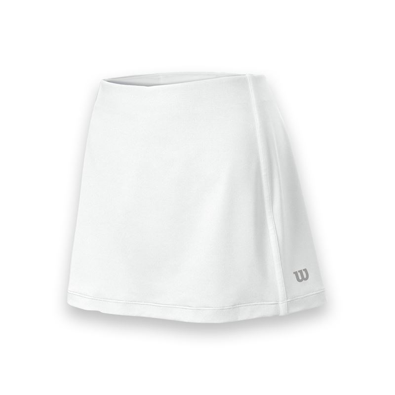 Wilson Women's Team Tennis Skirt (White/White)