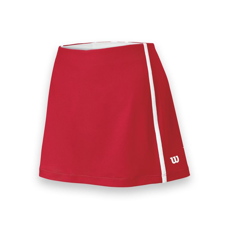 Wilson Women's Team Tennis Skirt (Red/White)