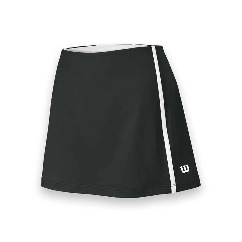 Wilson Women's Team Tennis Skirt (Black/White)