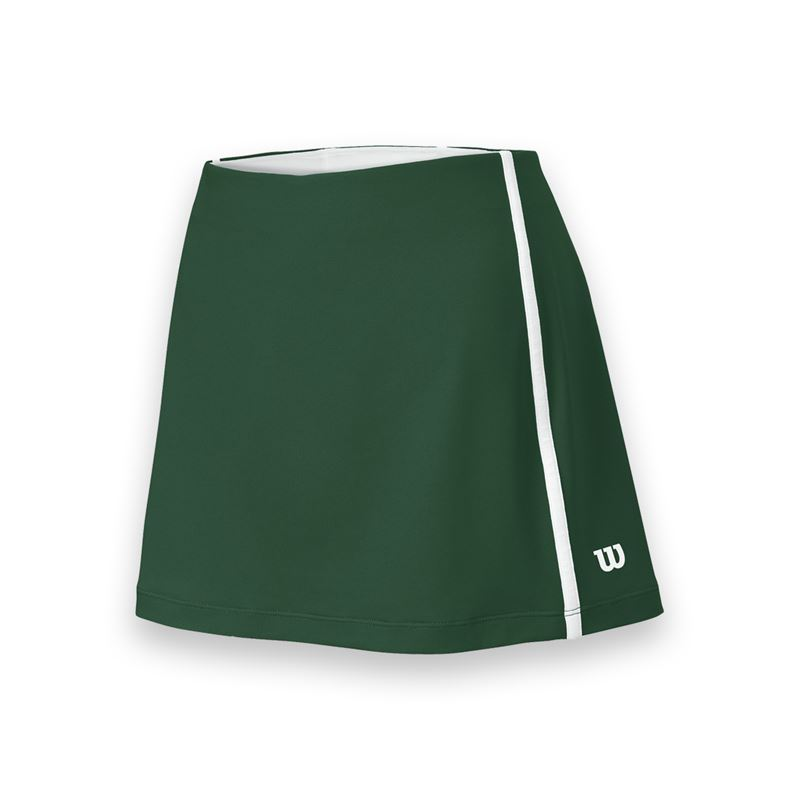 Wilson Women's Team Tennis Skirt (Green/White)