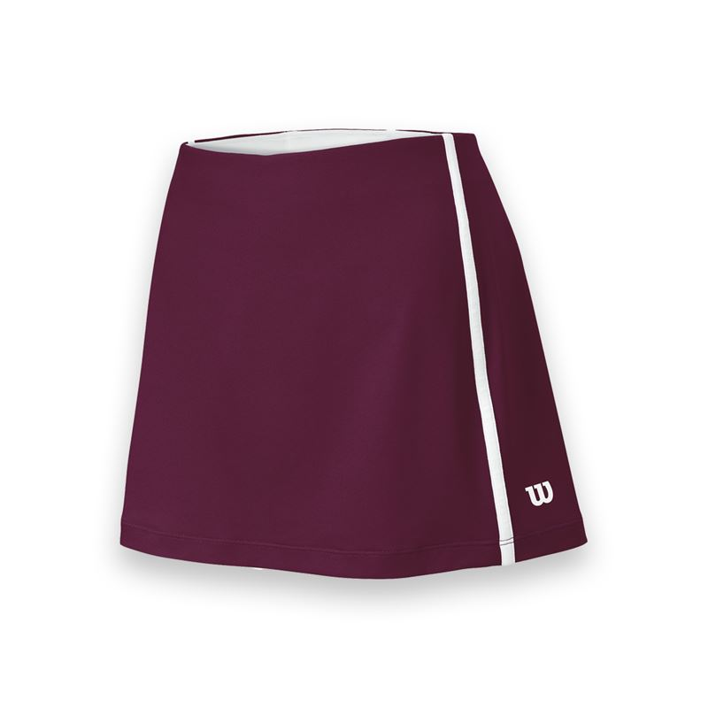 Wilson Women's Team Tennis Skirt (Maroon/White)