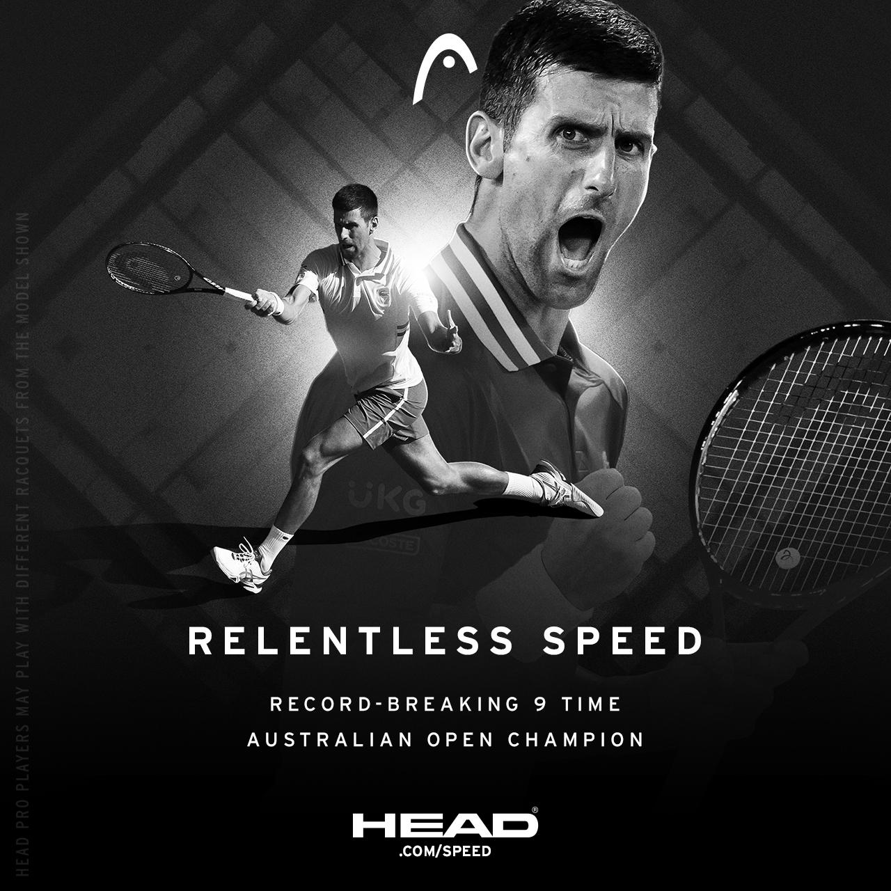 Novak Djokovic Head Graphene Racquet Bag Sale